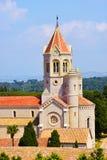 Abbaye de Lerins en île de saint-Honorat, France photos stock