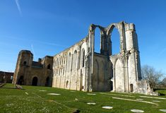 The Abbaye de Maillezais. Or Maillezais Cathedral is a ruined Roman Catholic cathedral in the commune of Maillezais in the Vendée, France. Formerly the site of Royalty Free Stock Image
