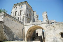 Abbaye de Montmajour em França fotografia de stock royalty free