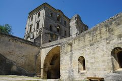 Abbaye de Montmajour i Frankrike Royaltyfri Bild