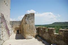 Abbaye de Montmajour i Frankrike Arkivfoto