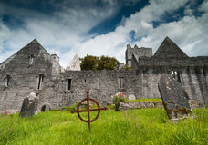 Abbaye de Muckross dans l'anneau de kerry Photographie stock libre de droits