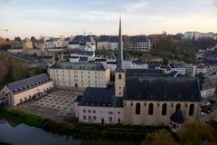 Abbaye de Neumunster在卢森堡城市 免版税库存照片