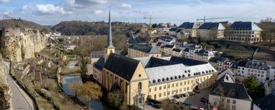 Abbaye de Neumunster et le Grund Images libres de droits