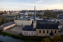 Abbaye de Neumunster in Luxembourg-City. A beautiful view over the Abbaye de Neumunster in the old town of Luxembourg-City, Europe. This place is also used for Royalty Free Stock Photo