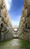 Abbaye de rue Galgano, Toscane Photo libre de droits