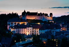 Abbaye de rue Mang et château de Fussen Image stock