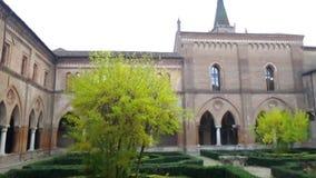 Abbaye de San Benedetto dans le kiosque de Polirone Mantova Italie banque de vidéos