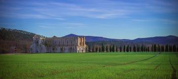 Abbaye de San Galgano, Toscane Photos libres de droits