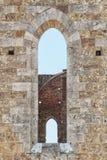 Abbaye de San Galgano, Toscane, Italie image stock