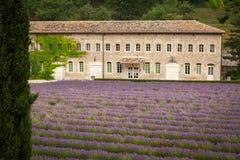 Abbaye de Senanque cerca del pueblo Gordes, Provence Foto de archivo