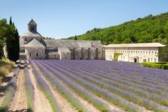 Abbaye de Senanque cerca del pueblo Gordes, Provence, Francia Imagen de archivo libre de regalías
