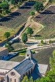Abbaye de Senanque nära byn Gordes, Vaucluse region, Provenc Fotografering för Bildbyråer