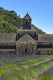 Abbaye de Senanque und Lavendel, Frankreich Lizenzfreies Stockbild
