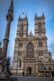 Abbaye de Westminster et colonne, Londres Photos libres de droits