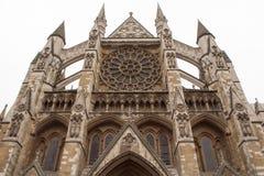 Abbaye de Westminster - façade photographie stock libre de droits