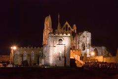 Abbaye de Whitby au crépuscule Images stock