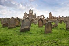 Abbaye de Whitby dans Yorkshire du nord Photographie stock
