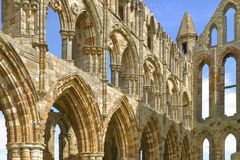 Abbaye de whitby, Yorkshire, Angleterre Image stock