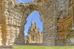 Abbaye de whitby, Yorkshire, Angleterre Images stock