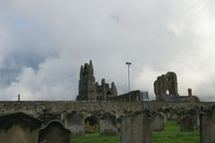 Abbaye de Whitby, Yorkshire du nord, abbaye bénédictine photo libre de droits
