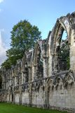 Abbaye du ` s de St Mary, York image stock