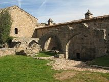 abbaye du thoronet стоковое изображение rf
