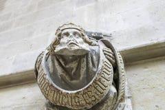 Abbaye en pierre de sculpture de Cluny, de SaÃ'ne et de Loire, Bourgogne, France l'Europe photos stock