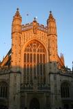 Abbaye et lune de Bath Photographie stock libre de droits