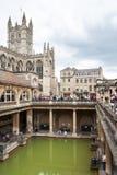 Abbaye et Roman Baths de Bath Bath, Somerset, Angleterre Photos stock