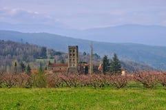 Abbaye Helgon-Michel-de-Cuxa Arkivbilder