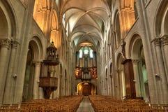 Abbaye Hommes aux. en Normandie Imagen de archivo libre de regalías