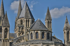 Abbaye Hommes aux. en Normandie Imagenes de archivo