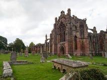 Abbaye melrose, Ecosse Photo stock