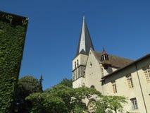 Abbaye Notre-Dame Ambronay Arkivbild