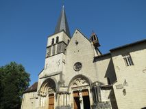 Abbaye Notre-Dame Ambronay Royaltyfria Bilder