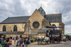 Abbaye Notre-Dame de Paimpont, França fotos de stock