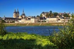 Abbaye Saint-Laumer in Blois. Stock Image