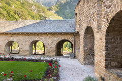 Abbaye Saint-Martin du Canigou Stock Photo