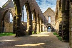 Abbaye Saint-Mathieu de Fine-Terre, Brittany Bretagne, France.  royalty free stock photos