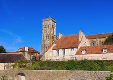 Abbaye Sainte-Marie-Madeleine de Vezelay Royaltyfria Foton