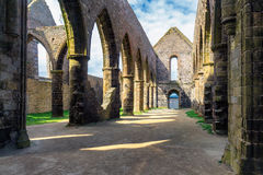 Abbaye Santo-Mateo de Fino-Terre, Brittany Bretagne, Francia Fotografía de archivo