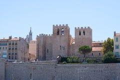 Abbaye St胜者,在马赛,普罗旺斯,法国 免版税库存照片