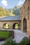 Abbaye St Martin du Canigou images stock