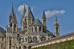 Abbaye Zusatz-Hommes in Normandie Stockfotos