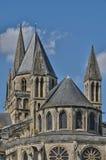 Abbaye Zusatz-Hommes in Normandie Stockbild