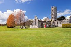 Abbazia agostiniana in club di golf di Adare - Irlanda. Fotografia Stock Libera da Diritti