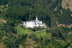 Abbazia del benedettino di Marienberg in Italia Fotografia Stock