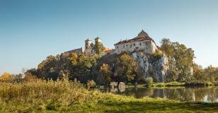 Abbazia del benedettino in Tyniec, Cracovia fotografie stock libere da diritti