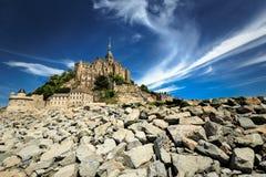 Abbazia del Saint Michel di Mont Fotografie Stock Libere da Diritti